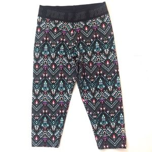Victoria's Secret PINK Aztec Athletic Capri Pants